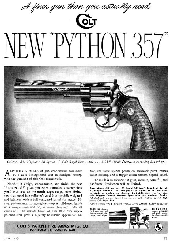 A vintage ad that run during the Colt's introduction to American shooters in 1955. (Image Courtesy: Creative Commons/Colt)