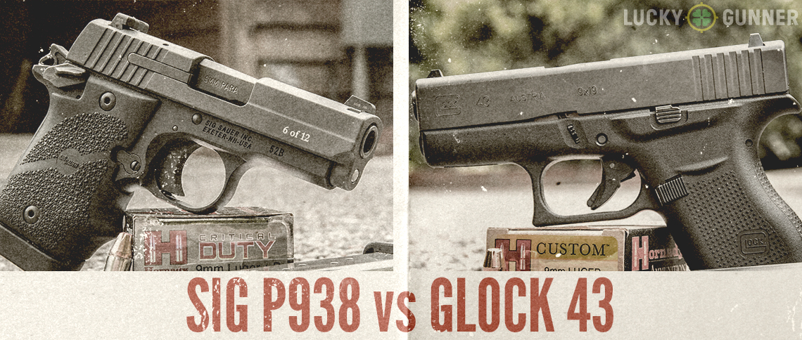 Glock 43 vs  Sig Sauer P938 - Single Stack 9mm Comparison